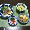 サゴシのムニエルと柿と水菜のサラダ