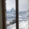2013年スイス旅行⑮ 3100 クルムホテル ゴルナーグラート(3100 Kulmhotel Gornergrat)部屋からの眺め