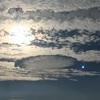 朝のご臨在 〜穴あき雲と太陽光