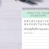 コロナ生活暇つぶしに!かっこいい英語の筆記体のサインを練習!