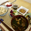 6/3  朝さんま梅煮 昼玄米カレー   @減量めし