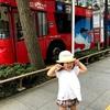 子連れ、2階建てオープンバス(スカイバスTOKYO)
