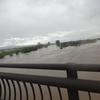 台風の影響、水位が高い阿武隈川、雨のたびに心配、梁川小学校、梁川認定こども園