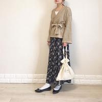 オンオフ使える万能スカート♡ユニクロ『プリントマーメイドロングスカート』で上品ママコーデ