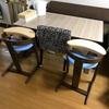 ついに双子の子ども椅子が届きました。