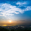 三重県の青山高原へ、夕焼けと夜景と月の出と天の川を!(後編)