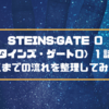 STEINS;GATE 0(シュタインズ・ゲート0)1話感想!ここまでの流れを整理してみた!