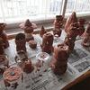 5年生:図工 粘土作品を暗い部屋で鑑賞