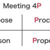 【ビジネスハック:無駄な会議を減らす】打ち合わせを効率化するフレームワーク:会議の4P