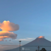 幻想的な「吊るし雲」が出現、山の日の富士山!