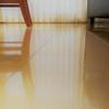 皮脂や食べこぼし汚れを一掃!床を水拭きしました。