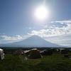 富士山からの日の出を見に、ふもとっぱらへ行ってみた。タフスクリーン2ルームハウス撤収も無事完了。(静岡県富士宮市麓)