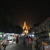 4日目:ヤンゴン乗り継ぎ観光 夜のシュエダゴンパゴダ