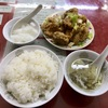 中区錦町マリンハイツの「百鶴楼」で鶏肉の唐揚げ定食