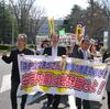 26日、森友疑惑の徹底解明と安倍政権の総辞職を求めて昼休みデモ行進。