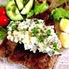 粉チーズとライ麦パン粉の鯵フライとマヨなしタルタル