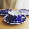 白山陶器「ルリ木の葉」のティーカップとお皿を購入