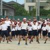 運動会総練習2④ 応援合戦リハーサル 赤組