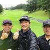 今日は、雨の中のゴルフ。でも楽しかったね!