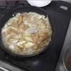 幸運な病のレシピ( 2081 )昼:カツ丼(タケノコと新タマネギ)