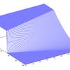 【浅水流方程式】ダム崩壊問題におけるDry bedとWet bedの違い 三次元図付き