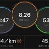 5kmペース走3kmダウンジョグ