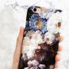 レトロ風 油画の花iPhone8ケース