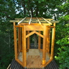 ツリーハウス 屋根の準備と入り口のアーチ