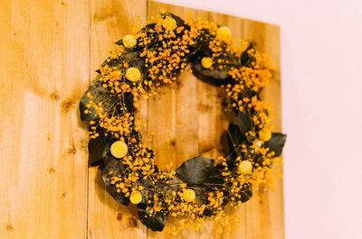 【秋のリースを作って飾ろう!】プリザーブドフラワーでオータムリースを作りました。