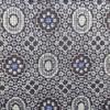 着物生地(230)抽象模様織り出し正藍泥大島紬(割込絣)