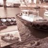 散歩de水彩スケッチ 大阪港 小さな漁船を描く 2019