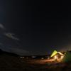 ソロキャンプ・夜の撮影