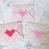 折り紙でお札が入る封筒の作り方【ハート】