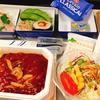 ニューヨーク旅行で食べた、往復の機内食の内容