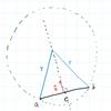 2点を通る円の中心を求める
