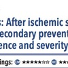 ACPJC:Therapeutics 脳梗塞・TIA後のアスピリン二次予防は早期再発予防と重症度軽減に繋がる