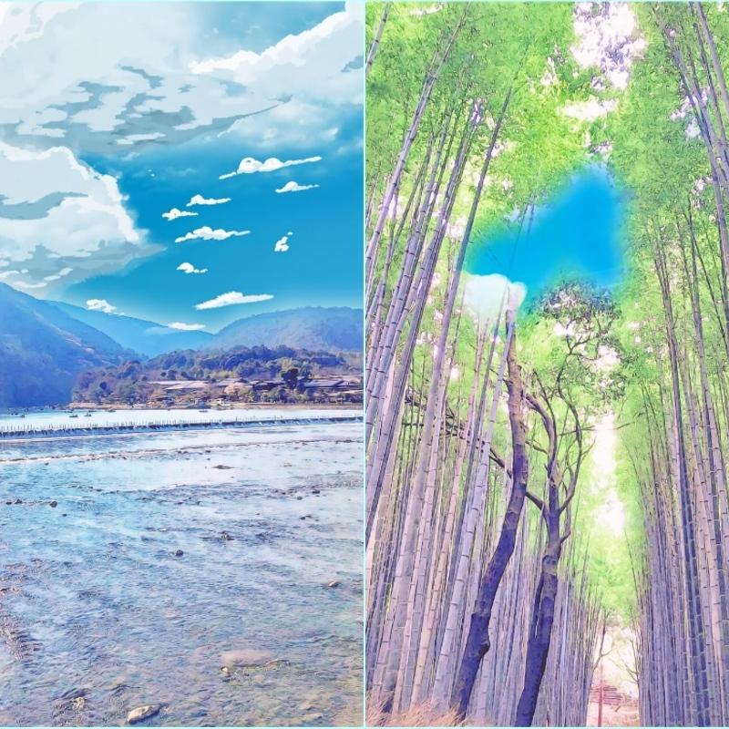 鮮やかな新緑が彩る大パノラマ〜嵐山〜