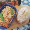 チャバタ&モッツァレラチーズとトマトパスタ。