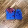 【在庫処理のハンドメイド子供服】半袖シャツ&長ずほんのセット作りました~参考「Check&Stripe Standard」子供用ネル素材パジャマ
