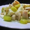 ぶどうとモツァレラ、鶏ハムのサラダ