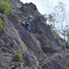 岳連クライミング講習会報告  「比良大岩谷天狗岩」