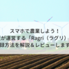 スマホで農業しよう!楽天が運営する「Ragri(ラグリ)」の登録方法を解説&レビューします!