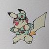 ピカチュウ(ダークドレアムコスプレ) Pikachu, DarkDream style.