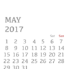 Apple Watch Calendar 2017年5月/May