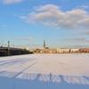 【写真15枚】冬のリガ中心部・ダウガヴァ河沿い散歩