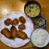 夕食:いわしとレンコンのフライ