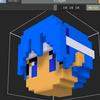ボクセル練習・キャラクターの頭 #magicavoxel