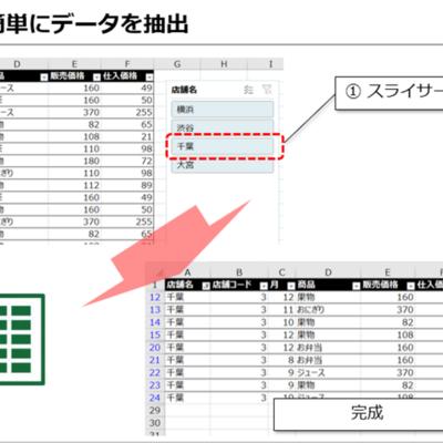 【Excel】膨大なデータを抽出するときに!フィルターより手間がない「スライサー」とは?