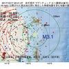 2017年10月17日 22時41分 岩手県沖でM3.1の地震