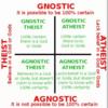 無神論と不可知論ってどこがどう違うの?